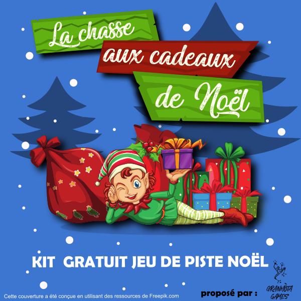 chasse aux cadeaux de Noël pour enfants
